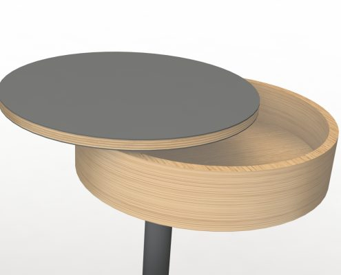 rotating bed table