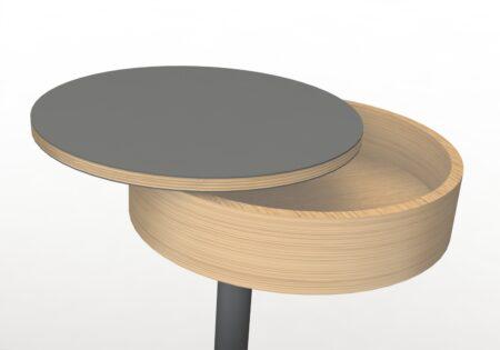 pivot bed bedside table